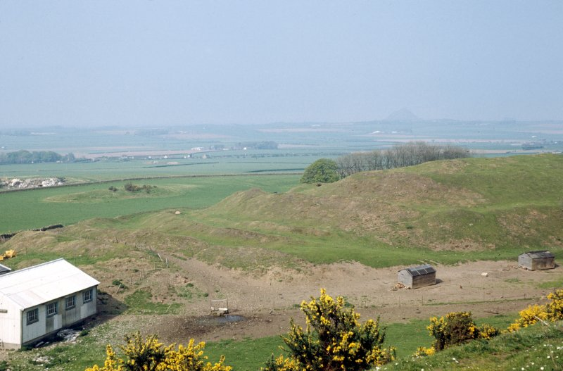 Copy of colour slide showing view of  The Chesters fort, Drem East Lothian  - defences at west end NMRS Survey of Private Collection Digital Image only