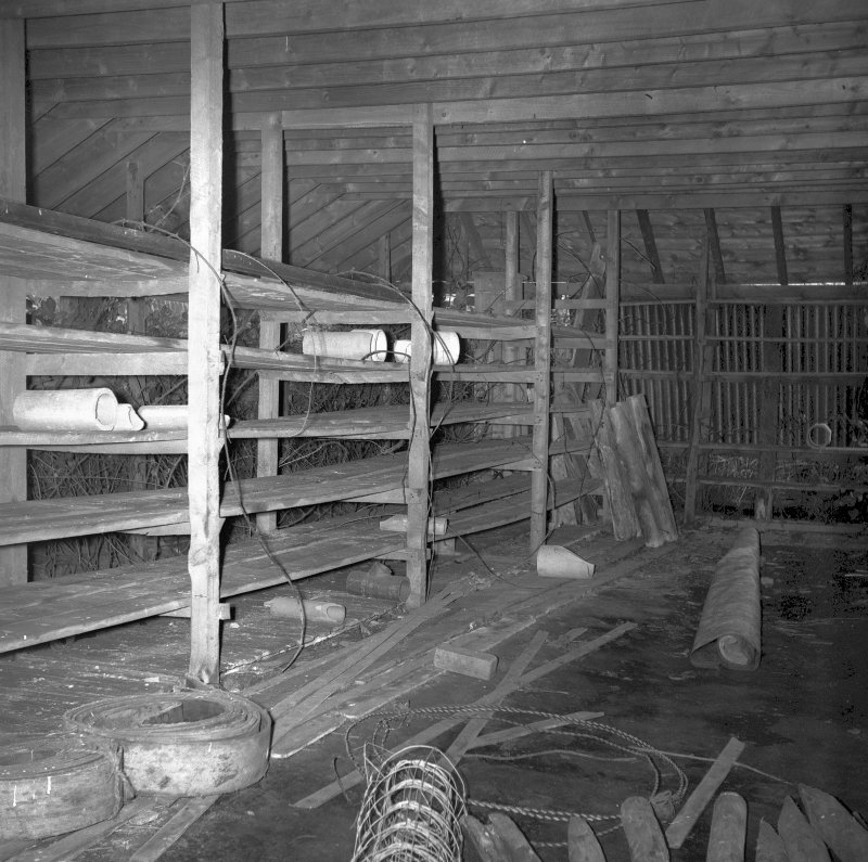 Interior View showing small detached drying shed Digital image of B/9493/4