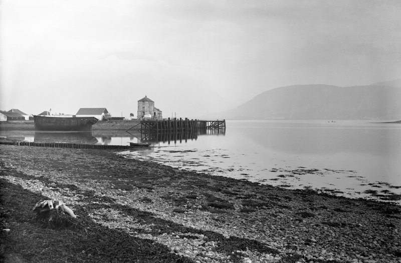 Corpach, Caledonian Canal. Corpach entrance; lock-keepers' houses, store-house and engine-house.