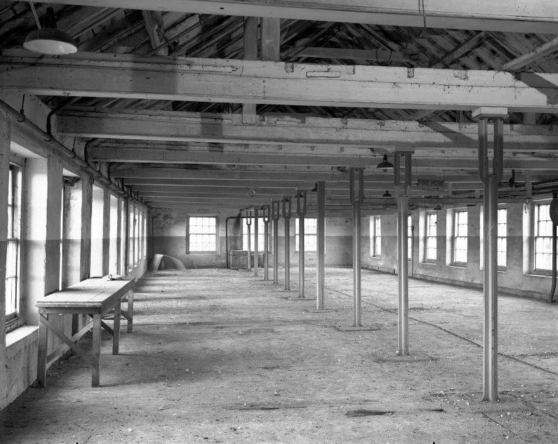 Interior, Stanley Mills. View of fourth floor from South-West.