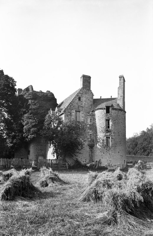 Earlshall. View from west.