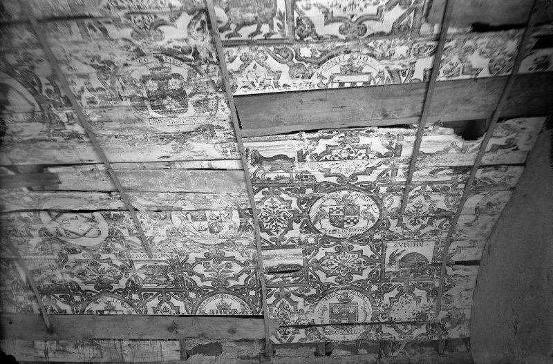 Gallery ceiling before restoration