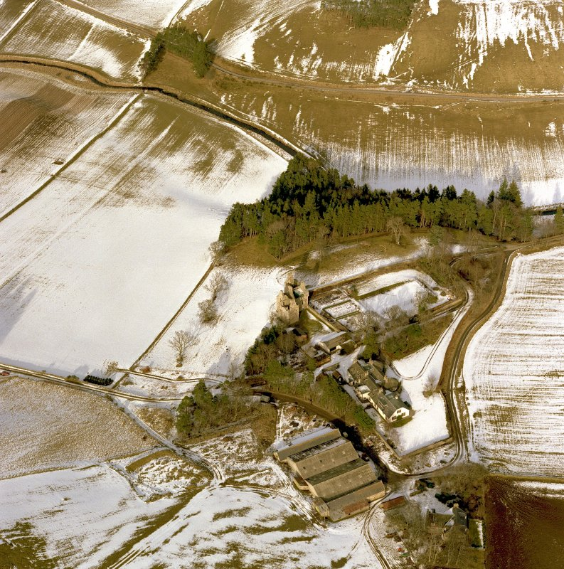 Oblique aerial view centred on Glenbuchat.