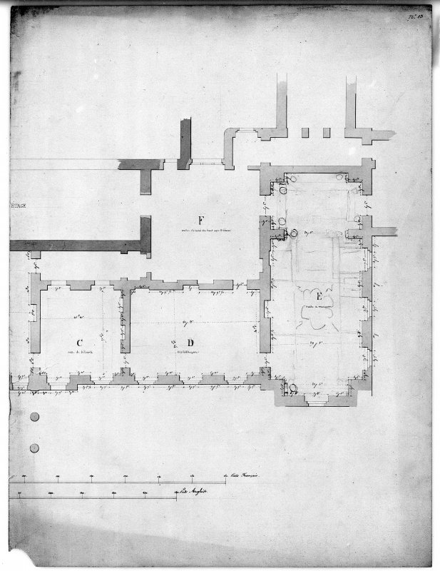 Photographic copy of plan of principal floor. Digital image of LAD 18/120 P