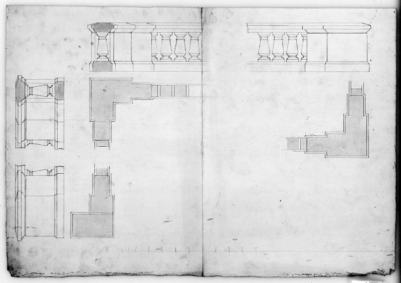 Photographic copy of designs for terrace wall. Digital image of LAD 18/102 P.