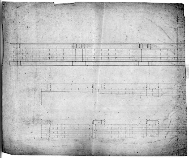Photographic copy of elevation of terrace wall. Digital image of LAD 18/107 P