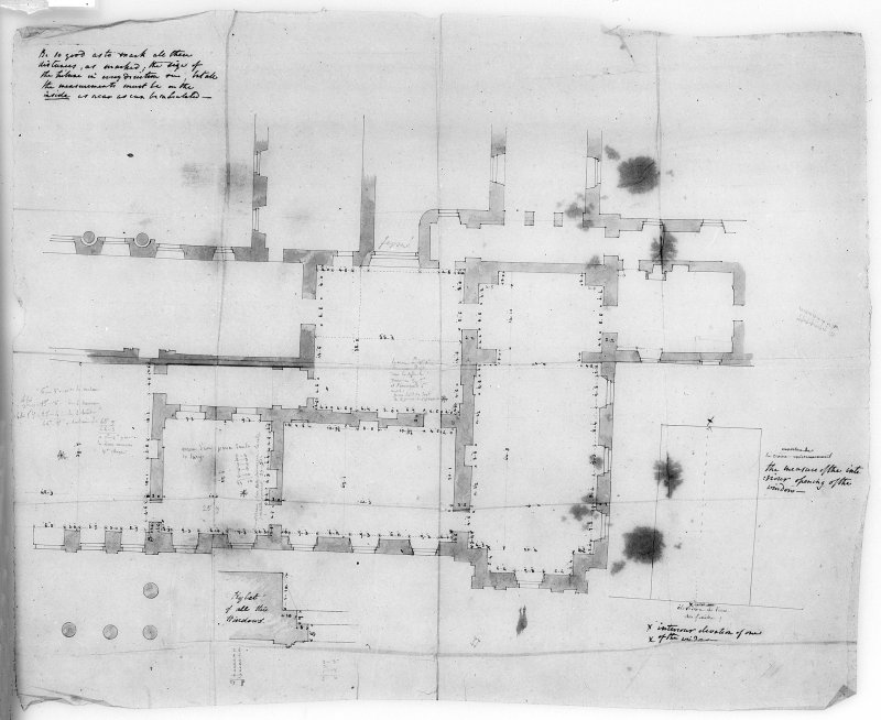 Photographic copy of plan of part of principal floor. Digital image of LAD 18/89 P