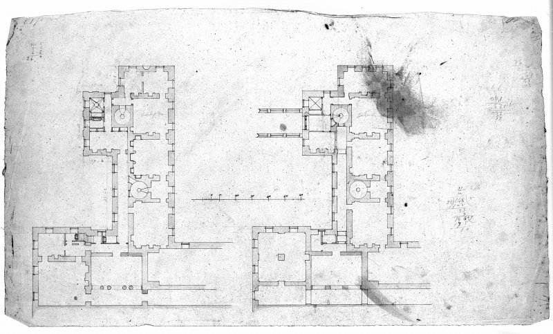 Photographic copy of floor plan of wing. Digital image of LAD 18/74 P.