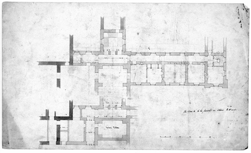 Photographic copy of ground floor plan. Digital image of LAD/18/73.