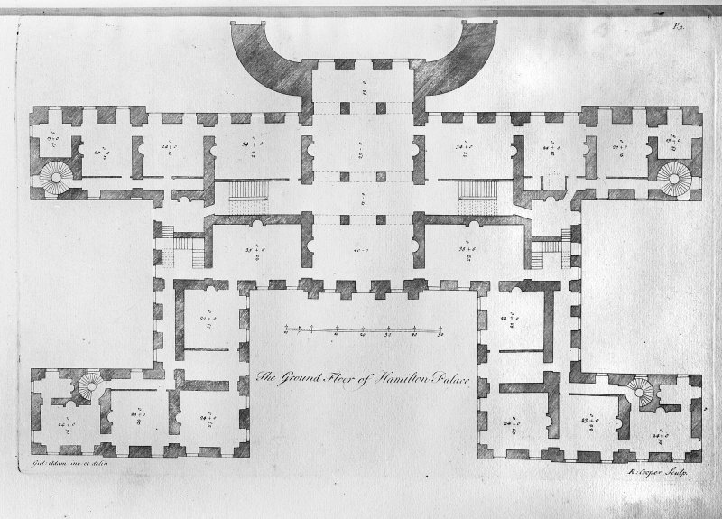 Ground floor plan showing additions by William Adam. Digital image of LAD 18/18 P.