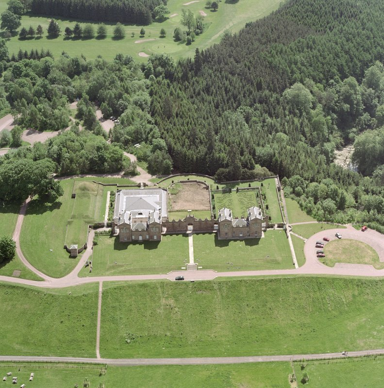 Oblique aerial view of Chatelherault, taken from the NNE.
