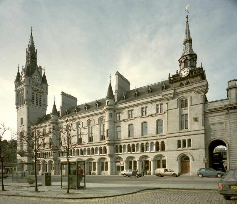 Aberdeen, Castle Street, Municipal Buildings. General view from South-East.