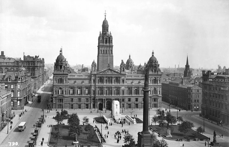 View of City Chambers and George Square, Glasgow, from West Titled: '790.'