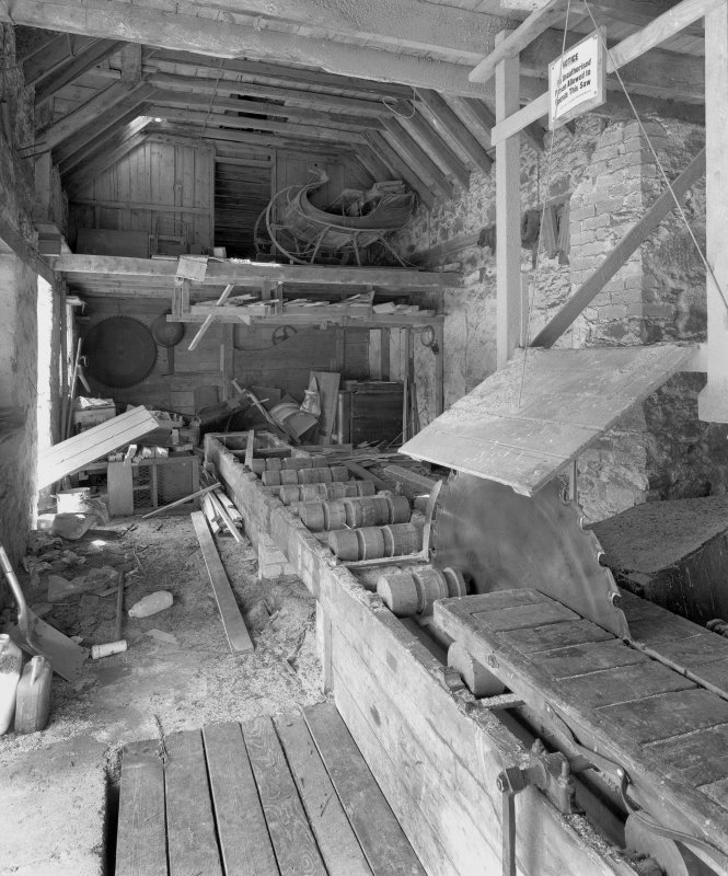 Interior, view from E (including saw-mill machinery) Digital image of D/31670