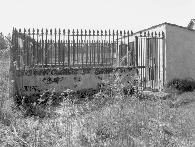 Dog kennel (with tall railings all round exercise yard), view from E Digital image of D/31679