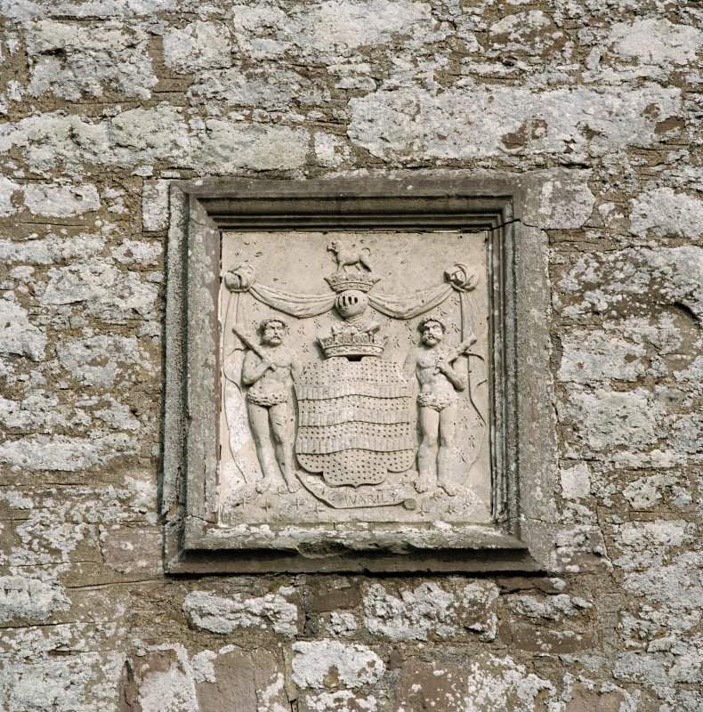 Detail of armorial panel above entrance to courtyard. Digital image of D 47360 CN.