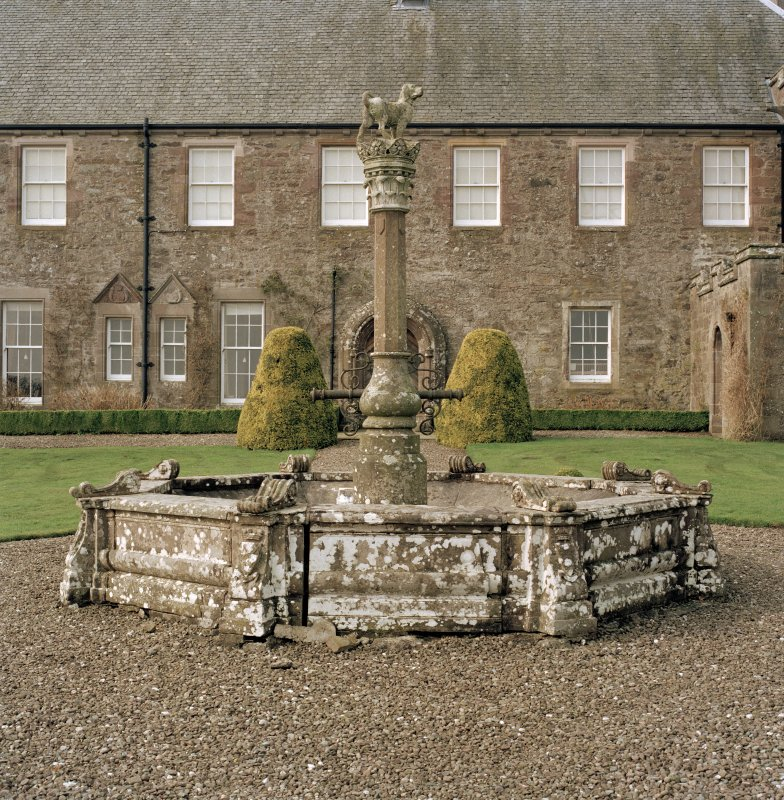 View of fountain from East. Digital image of D 47418 CN.