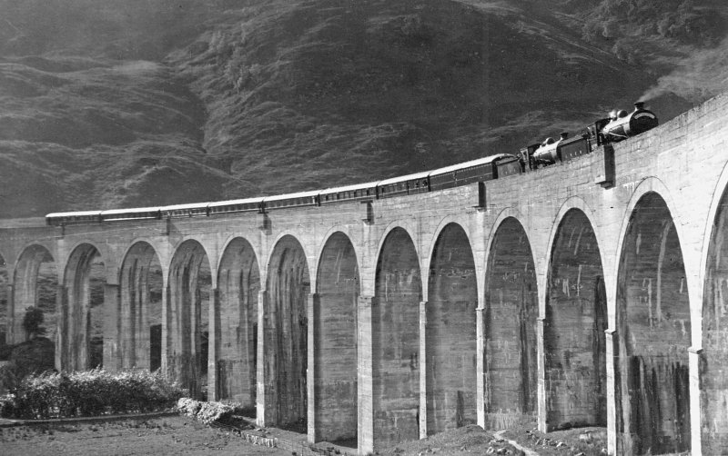 Train on viaduct