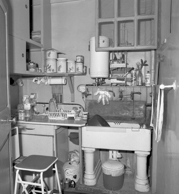 View of the small kitchen, the former housemaid pantry Digital image of C/34838