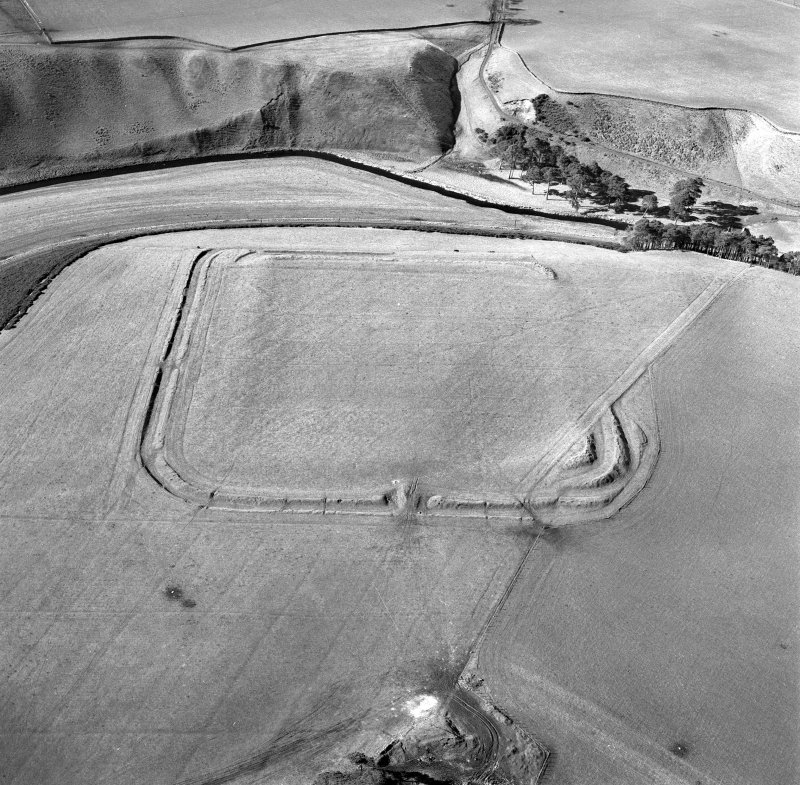 Lyne Roman Fort, oblique aerial view, taken from the E. Digital image of C/55718.