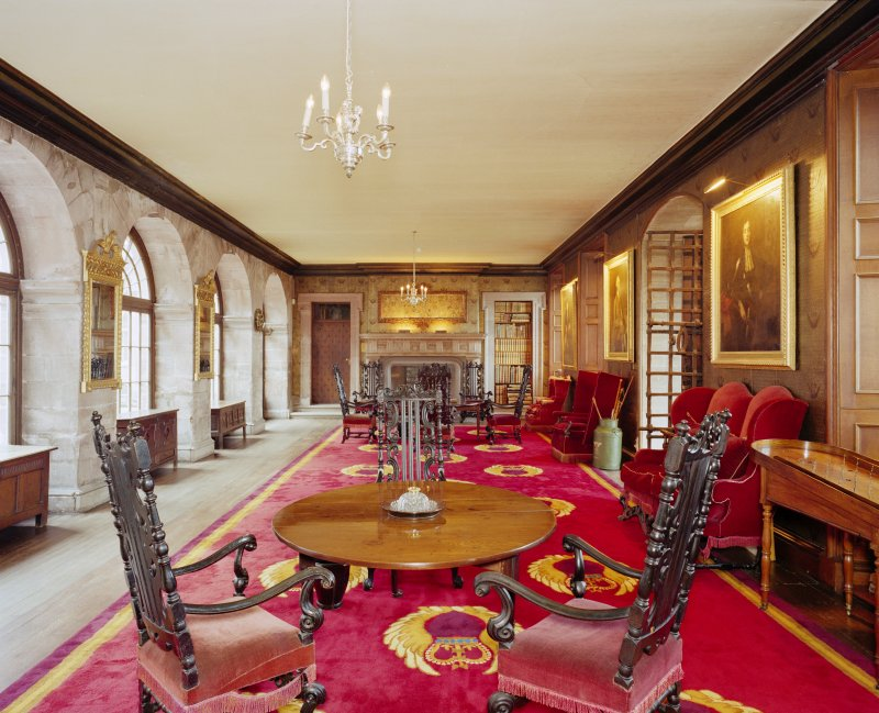Interior, principal floor, front hall, view from East. Digital image of D 41617/cn