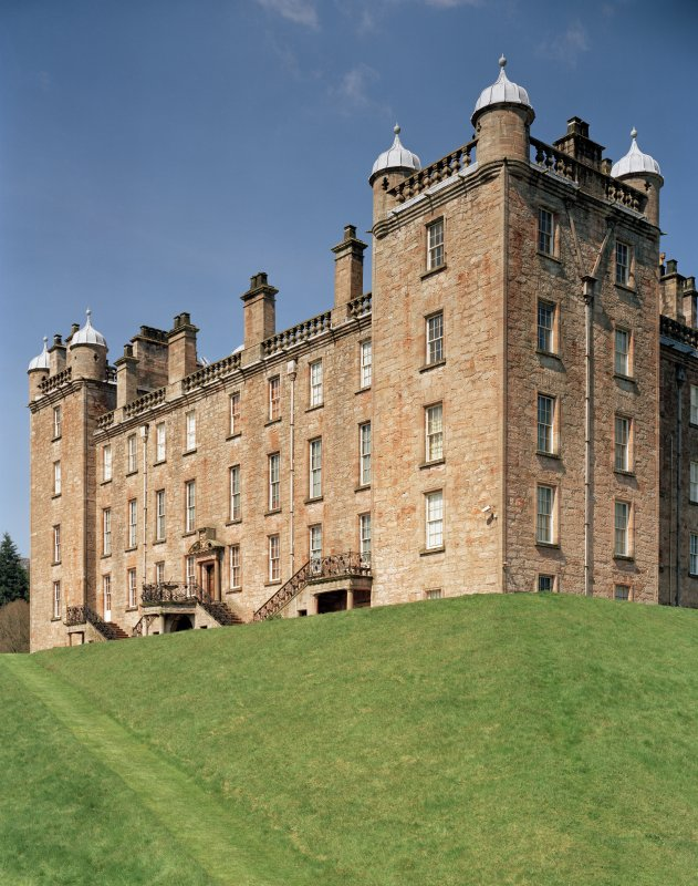 View of South face of castle from South East. Digital image of D 47011/cn