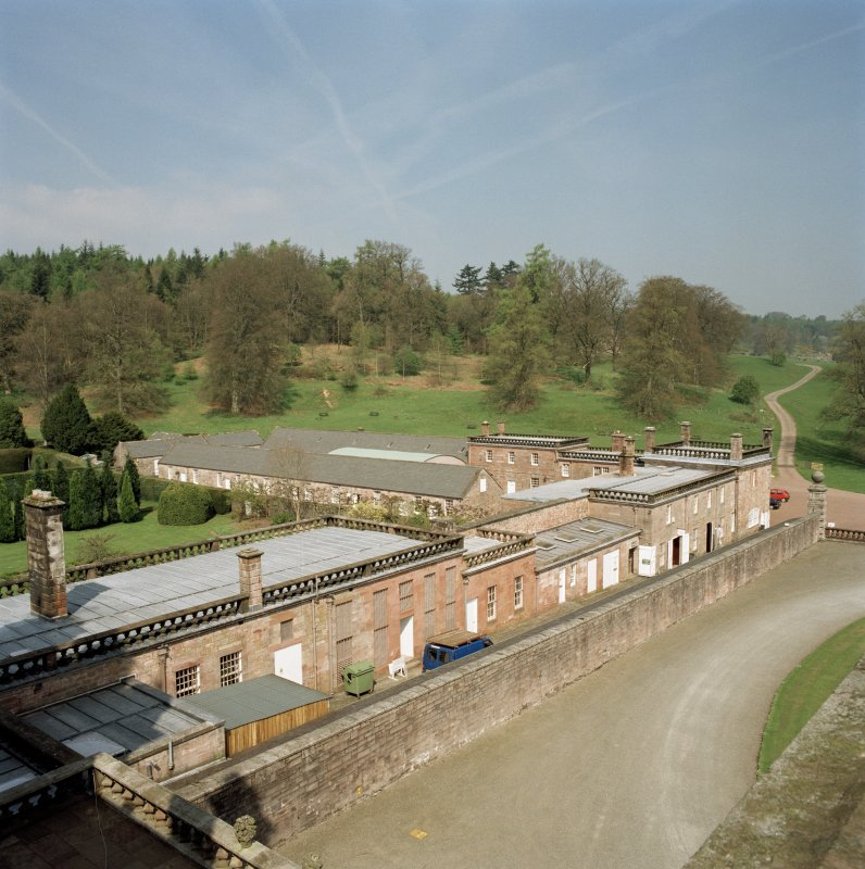 North West wing, view from roof of castle to South East. Digital image of D 47025/cn