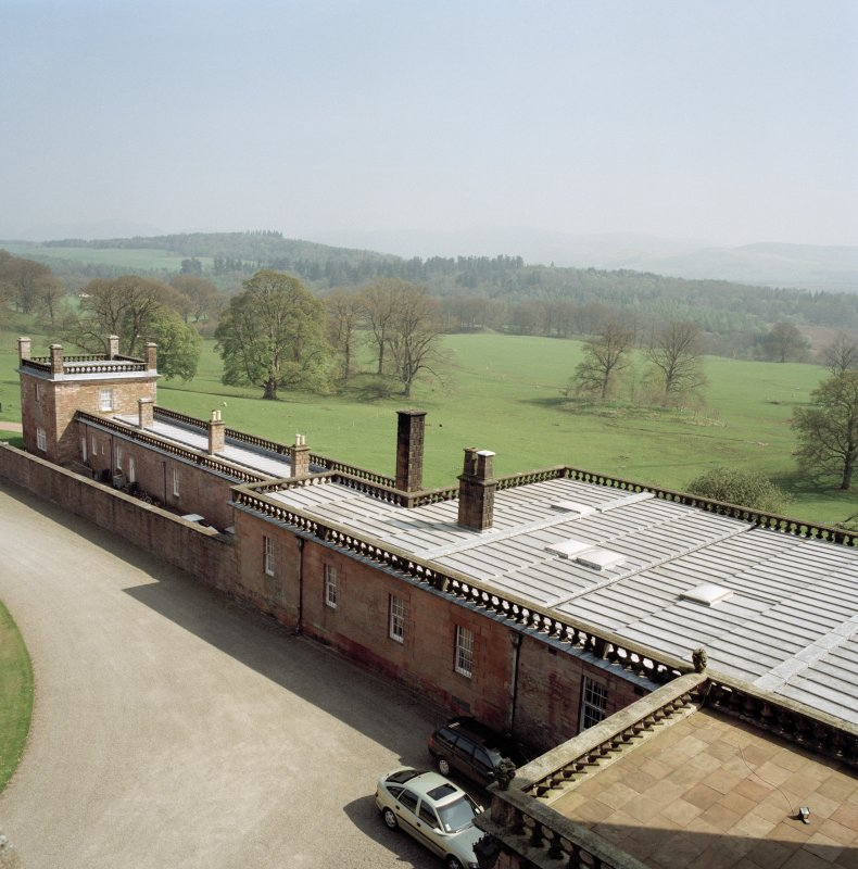North East wing, view from roof of castle to South West. Digital image of D 47027/cn