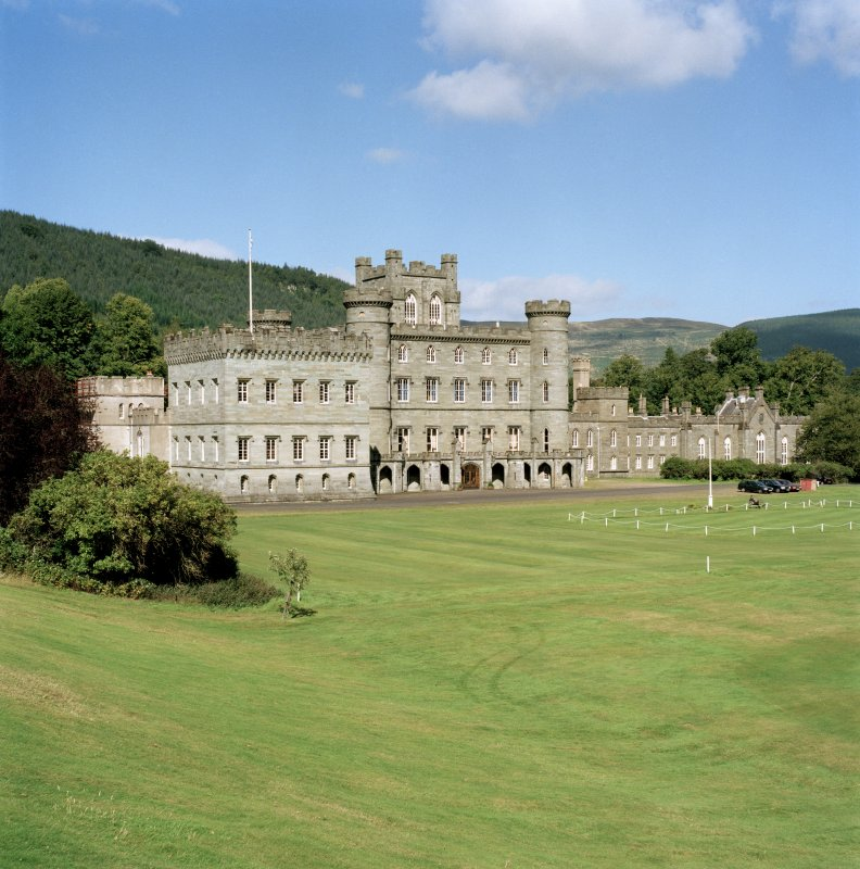 Taymouth Castle.  View from South West