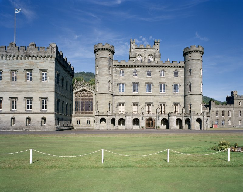 Taymouth Castle.  View of central block from South