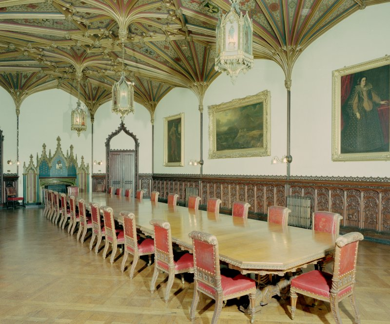 Taymouth Castle.  1st. floor, Dining-room, view from North West. Digital image of D/21840/cn