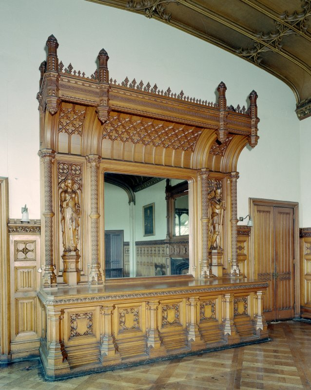 Taymouth Castle.  1st. floor, Breakfast room, view of dresser on South wall. Digital image of D/21838/cn