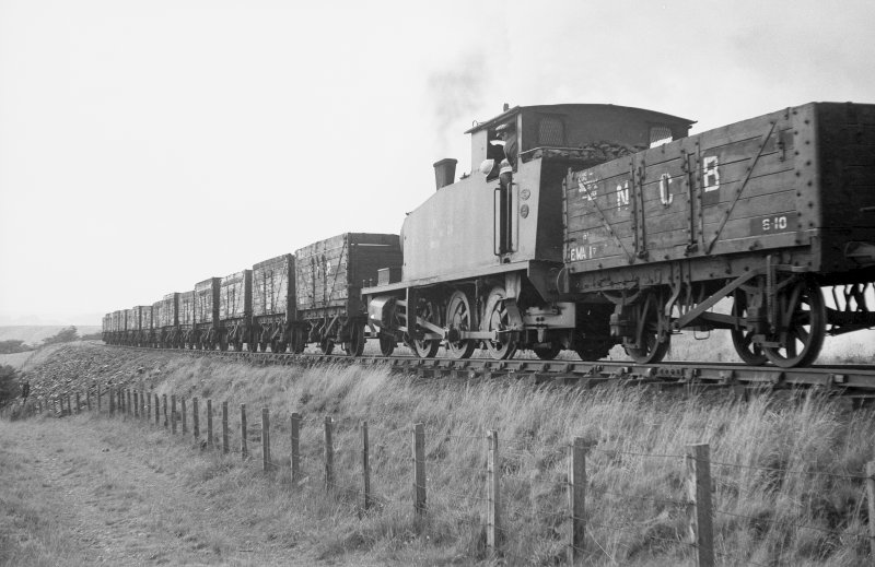View showing NCB locomotive no 24 near colliery