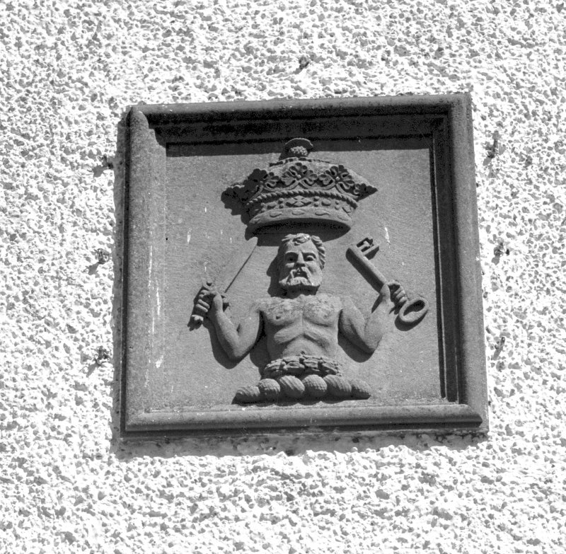 Blair Castle. Exterior detail of plaque in wall. Digital image of PT 467.