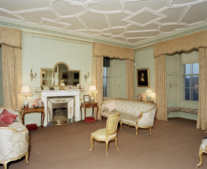 Interior, 1st. floor, boudoir, view from North West. Digital image of D 41684 cn