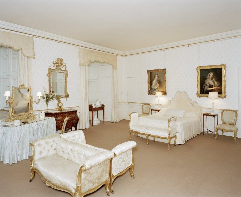 Interior, 1st. floor, white bedroom, view from North West. Digital image of D 41688 cn