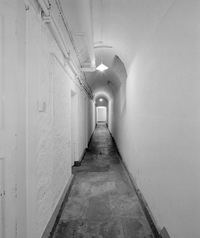 Interior, basement, South corridor, view from East. Digital image of D 41700