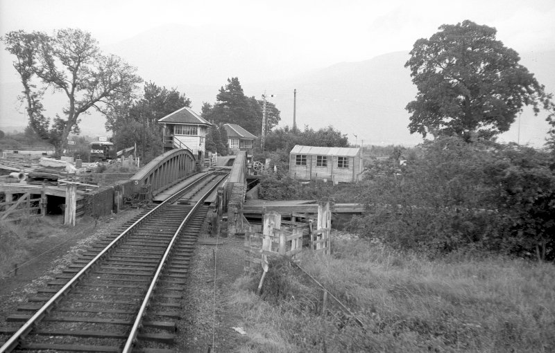 View from NW showing swing bridge with station in background