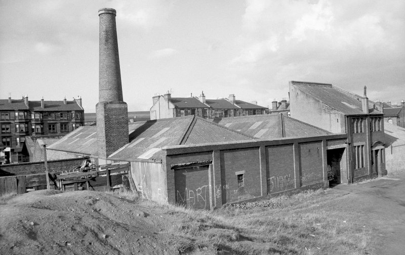 View from SW showing chimney and SSE and WSW fronts of 2 bay office and house