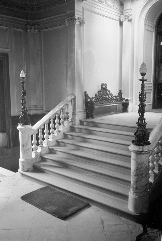 View of stair in north porch. Digital image of ML 1808/29.