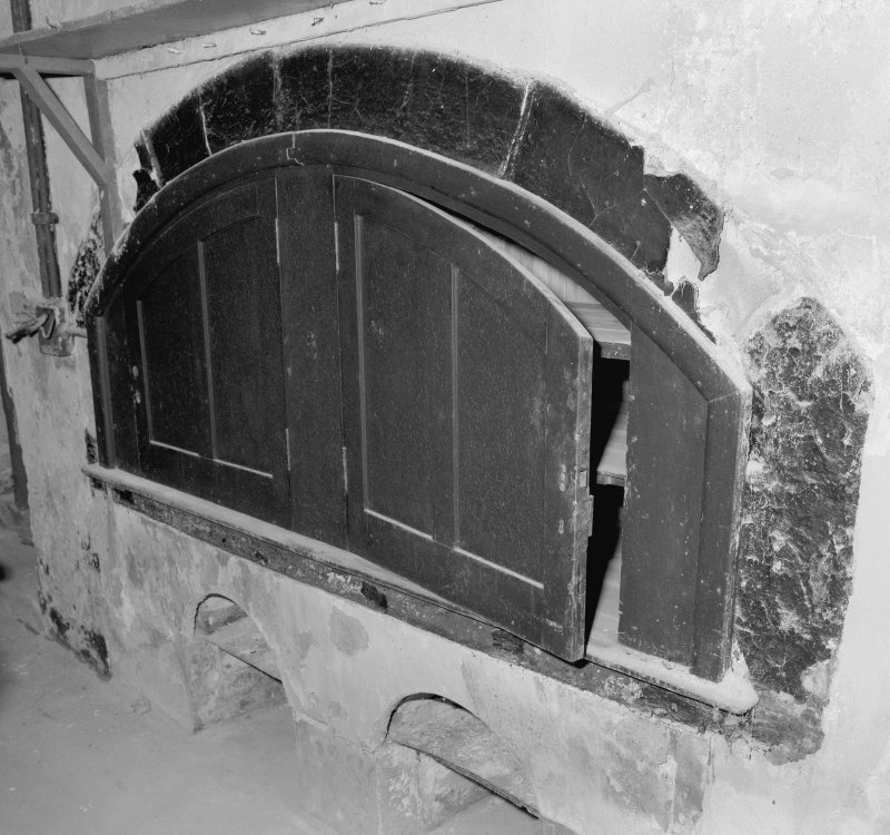 Interior. Detail of adapted warming oven. Digital image of C 43653.