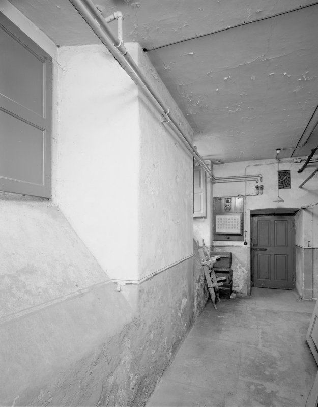 Interior. View of basement corridor. Digital image of C 43635.