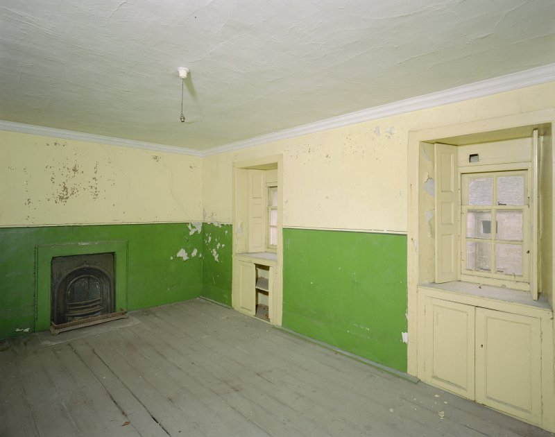 Interior. View of bedroom on first floor of West pavilion. Digital image of C 43639.