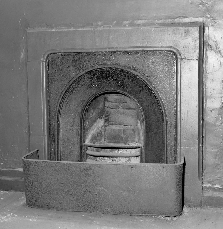 Interior. View of bedroom fireplace. Digital image of C 43643.
