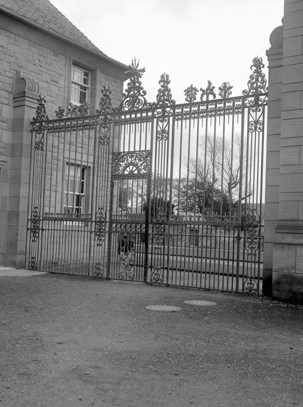 Floors Castle, gateway and lodges View of left hand gate, from W Digital image of RX/957