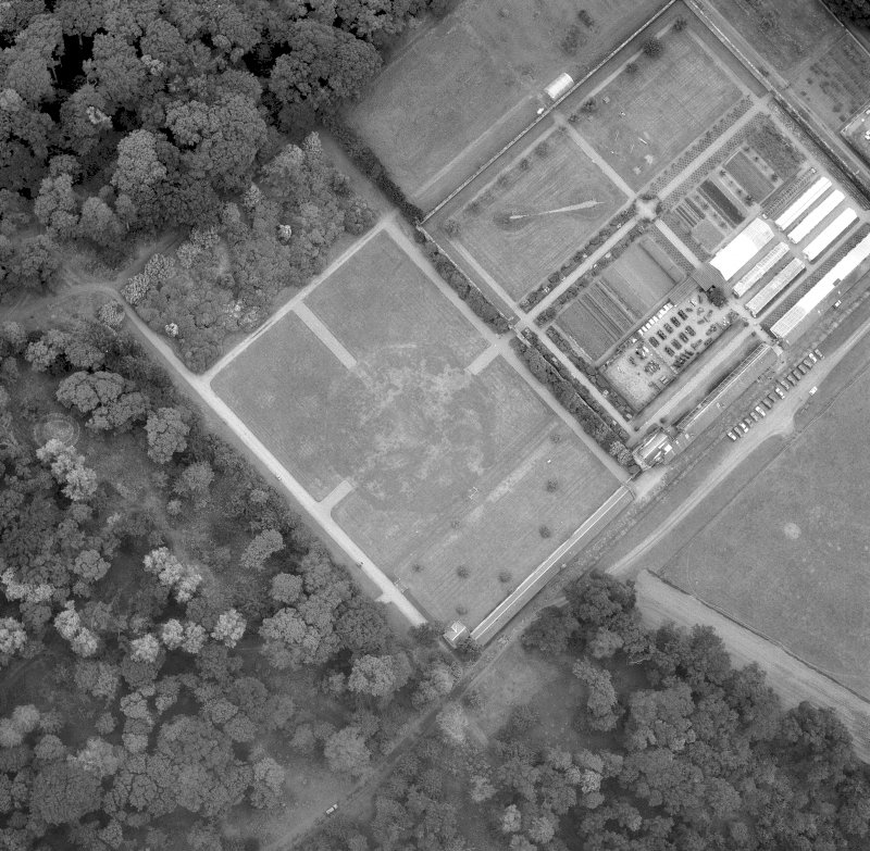 Floors Castle, formal garden Aerial view from North Digital image of C/656