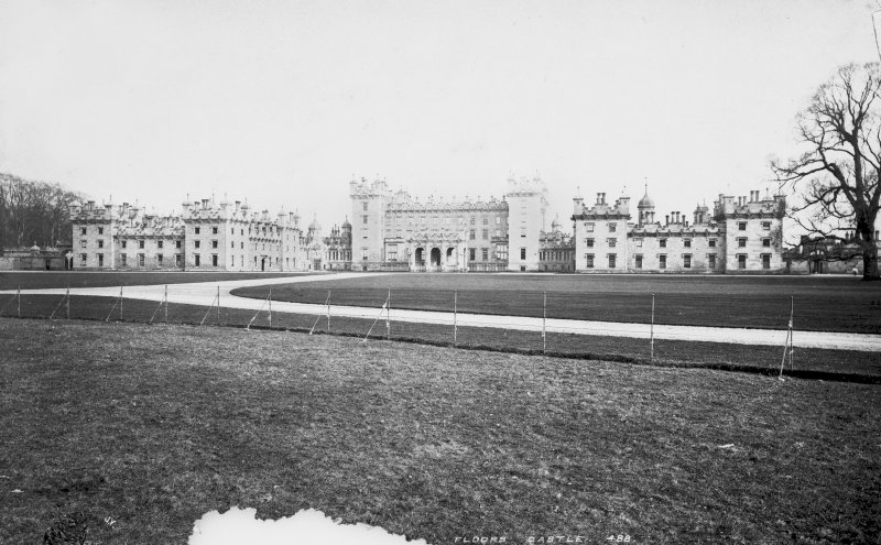 Floors Castle View from West North West, titled: 'J.V.  Floors Castle. 488.' Digital image of RX/1322