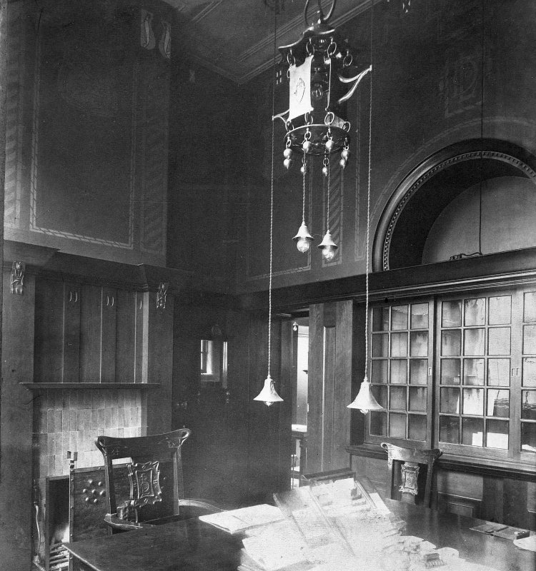 Digital image of 'Agent's Room, British Linen Coy. Bank, Hutchesontown Branch, Glasgow'.