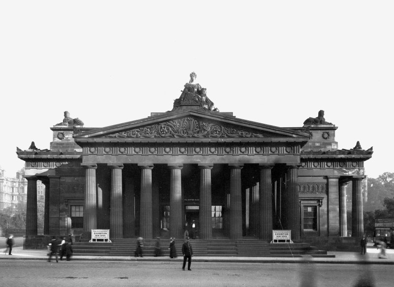 View of principal entrance front of the Royal Scottish Academy, Edinburgh, after reconstruction 1911.