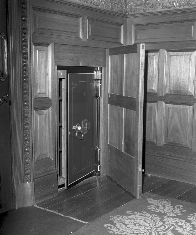 Interior Detail of safe in Mrs Carnegie's Bedroom on first floor Digital image of SU/759